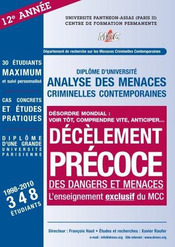 Analyse des menaces criminelles contemporaines - Legrain2sel.com
