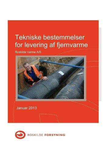 Tekniske bestemmelser for fjernvarmelevering (pdf) - Roskilde ...