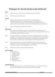 Vedtægter for Danske Studerendes Fællesråd