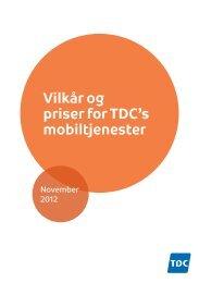 Vilkår og priser for TDC's mobiltjenester - TDC Shop
