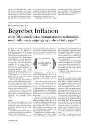 Begrebet Inflation - Claus Thomas Nielsen