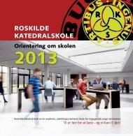 Orientering om skolen - Roskilde Katedralskole