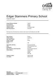 Edgar Stammers Primary School - The TES
