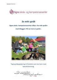 Se mitt språk våren 2013 - Signo