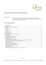 kravene til materiale på Digitalt Produktkatalog