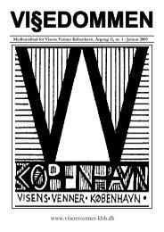 Vi§edommen nr. 1, januar 2009 - Visens Venner København