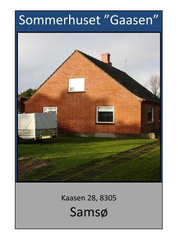 """Sommerhuset """"Gaasen"""" Samsø"""