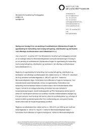 Høring over forslag til lov om ændring af sundhedsloven - Institut for ...