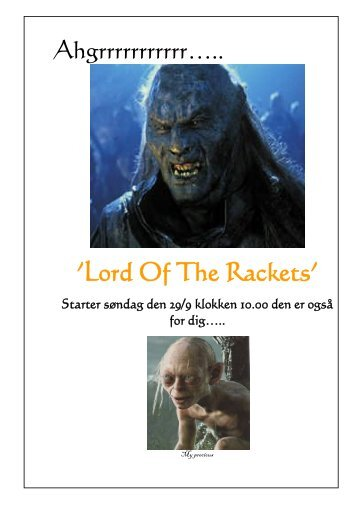 'Lord Of The Rackets'