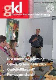 Juni 2009:Opsætning - Gentofte Kommunelærerforening