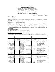 14-09-12: Danske Invest SICAV: Meddelande til andelsägare