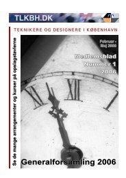 TLKBH.DK Generalforsamling 2006 - Teknisk Landsforbund