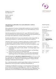 Syddansk Universitet Jens Oddershede Sent pr. e ... - ACE Denmark
