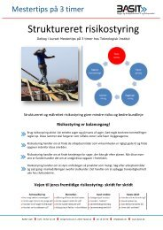 Struktureret risikostyring - Basit.dk