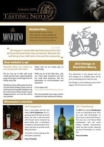 Summer 2013 - Monichino Wines