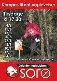 Tirsdage kl 17.30 - Orienteringsklubben Sorø