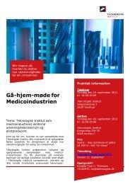 19 & 26/9 Gå-hjem.møde for Medicoindustrien ... - ATV-SEMAPP
