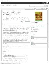 Gads Forlag   Den moderne kulturs historie - Gert balling