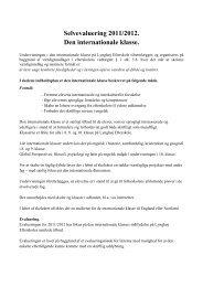 Selvevaluering 2011/2012 - Lynghøj Efterskole