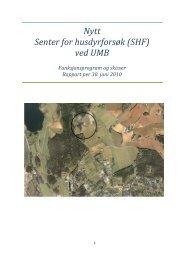 Rapport - Funksjonsprogram og skisser - UMB
