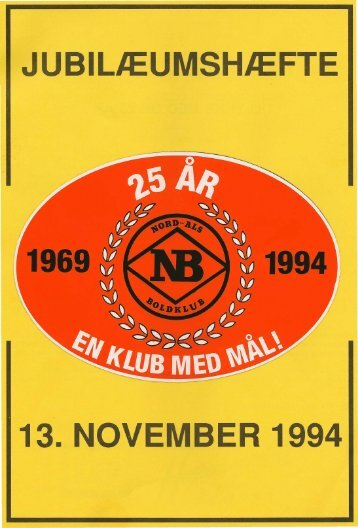 JUBILÆUMSHÆFTE 13. NOVEMBER 1994 - nb-arkivportal