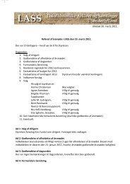 Referat af årsmødet den 19. marts 2011. - LASS