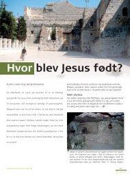 Hvor blev Jesus født? Carsten Vang - Selskab for Bibelsk Arkæologi