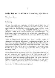 SYMBOLSK ANTROPOLOGI- en forklaring og et forsvar