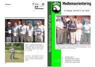 Medlemsorientering - Nordbornholms Golf Klub