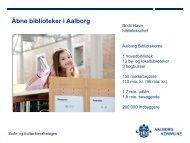 Aalborg Bibliotekerne – budget 2012