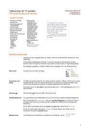Välkommen till TT-språket Till nytta för alla som skriver Allmänna - KTH