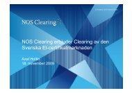 NOS Clearing erbjuder Clearing av den S k El tifik t k d Svenska El ...