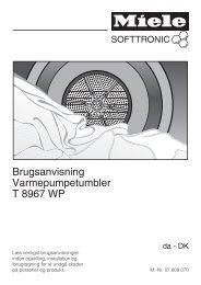 Brugsanvisning Varmepumpetumbler T 8967 WP - Miele Danmark