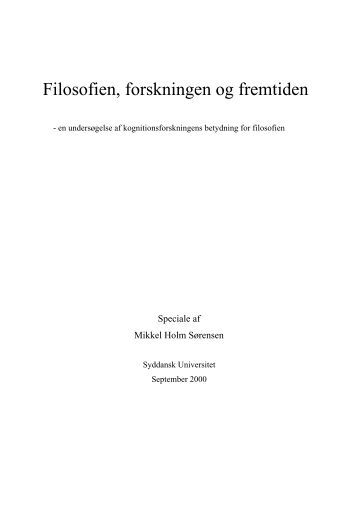 Master thesis philosophy