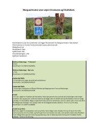 Margueritruten viser vejen til naturen og friluftslivet.