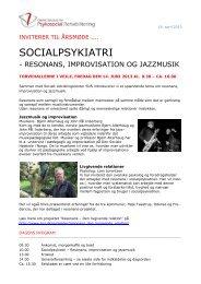 SOCIALPSYKIATRI - Dansk Selskab for Psykosocial Rehabilitering