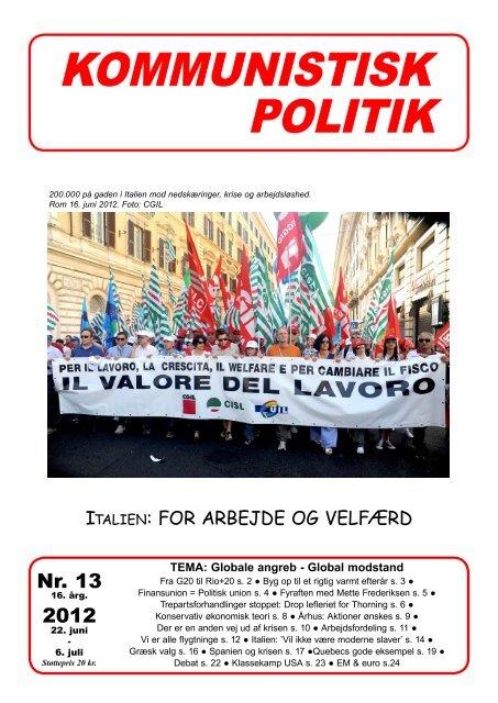 Nr. 13 2012 - Kommunistisk Politik