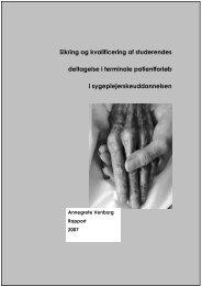 Læs den tilhørende rapport her. - Hospice Djursland