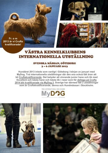 VÄSTRA KENNELKLUBBENS INTERNATIONELLA ... - MyDOG