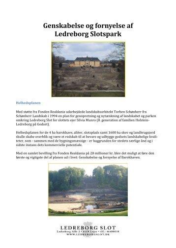 Genskabelse og fornyelse af Ledreborg Slotspark