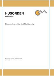 HUSORDEN - Gladsaxe Almenyttige Andelsboligforening