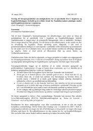 10. marts 2011. FM 2011/37 Forslag til ... - Inatsisartut