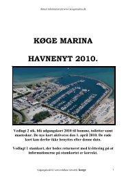 KØGE MARINA HAVNENYT 2010.