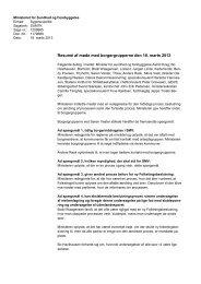 Resumé af møde med borgergrupperne den 18. marts 2013