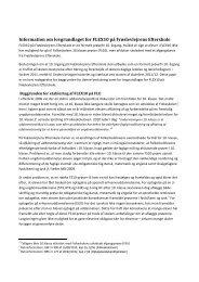Information om lovgrundlaget for FLEX10 på Frøslevlejrens Efterskole