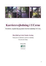 Karrierevejledning i UCerne - Videncenter for uddannelses- og ...