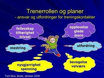 Trenerrollen og planer Trenerrollen og planer - Treningskontakt.no