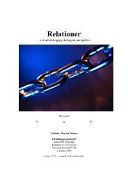 Udviklingspsykologi 2: Relationer i et udviklingspsykologisk perspektiv