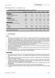 Cenzia Forvaltning Markedsrapport (2. kvartal 2012) - cenzia.no