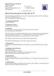 Referat Bestyrelsesmøde 25-11-11 - DSU 8. hovedkreds